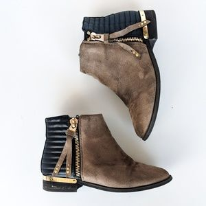 Zara Two toned Ankle Boots with Gold details